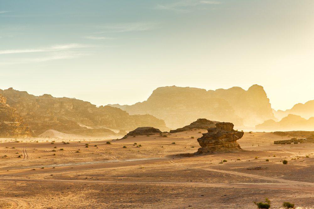 Jordánská poušť Wadi Rum.